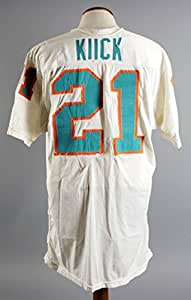 1971-72 Jim Kiick Game-Worn Miami Dolphins Jersey From Undefeated Super Bowl Season - Photo-Matched, COA 100% Team Graded 19/20