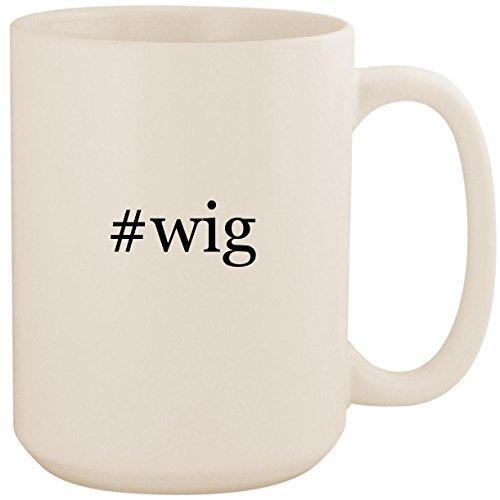#wig - White Hashtag 15oz Ceramic Coffee Mug Cup ()