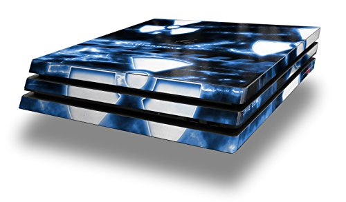 WraptorSkinz PS4 Pro Skin Radioactive Blue - Decal Style Skin Wrap fits Sony PlayStation 4 Pro - Radioactive Blue