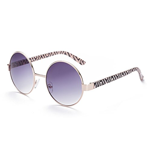 Naivo Women's YJMH059-3 Polarized Round 1960's Free Love Gradient Sunglasses, Light - 1960 Sunglasses