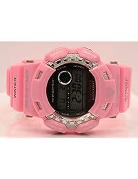 King Master Mens Diamond Pink Shock Watch 0.12Ctw Ds212 Dw6900 Freeze