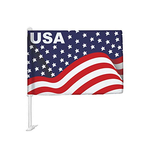 DS Inspirational Decals 4th of July USA CAR Flag - Top Selling Patriotic America Window Flags 12