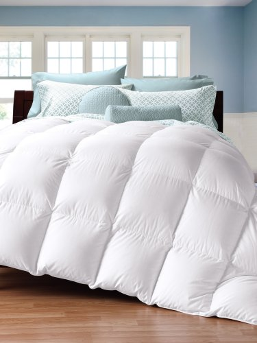 Cuddledown 450 Thread Count Down Comforter, King, Level 3, White