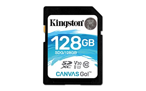 Kingston Canvas Go! 128GB SDXC Class 10 SD Memory Card UHS-I 90MB/s R Flash Memory Card (SDG/128GB)