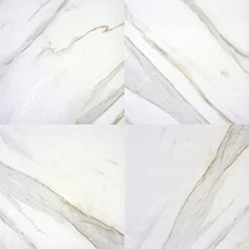 Pietra Calacatta 18 X 18 Porcelain Polished Floor And Wall Tile In