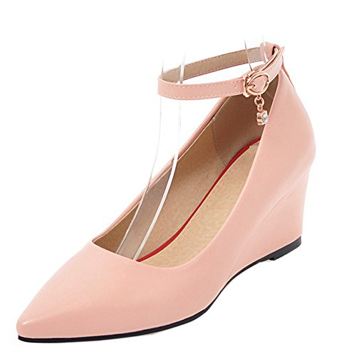 Pointu Femme Chaussure Simple Escarpins Easemax Rose Compensé Talon ptqRw