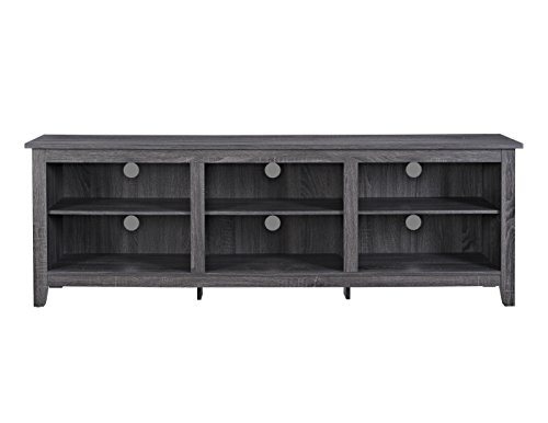 We furniture 70 wood media tv stand storage console for Media and tv storage furniture