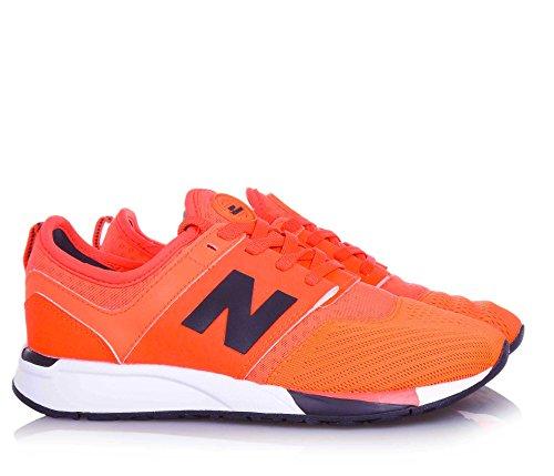 NEW BALANCE - Leuchtend orange Sportschuh 274 mit Schnürsenkeln grand school, aus Synthetik und Mikrofaser, Jungen