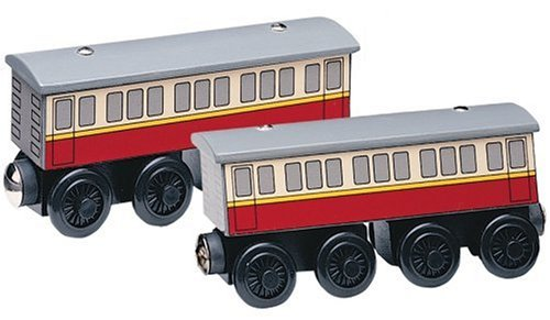 Learning Curve Thomas and Friends Wooden Railway - Express Coaches (Thomas The Train Tidmouth Sheds Deluxe Set)