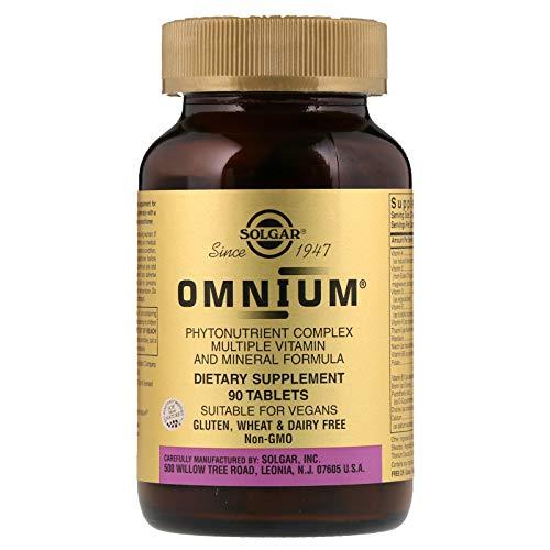 (Solgar Omnium Phytonutrient Complex - 90 Vegan Tablets - Multivitamin and Mineral Supplement, Energy Booster, Antioxidant- Vegetarian, Non GMO, Gluten Free - 45 Servings)