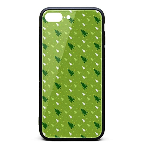Green Christmas Tree Phone Case iPhone 7 Plus, iPhone 8 Plus, Slim Protection Art Line Design Cell Phone Protective - Fruit Nyx