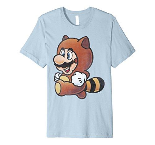 (Nintendo Super Mario Tanooki Suit Vintage Premium T-Shirt)