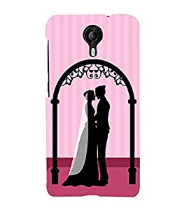 PrintVisa Romantic Wedding Couple 3D Hard Polycarbonate Designer Back Case Cover for Micromax CanvasNitro4G E371