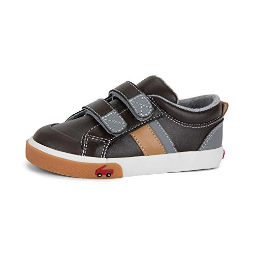 See Kai Run - Russell Sneakers for Kids, Brown Leather, 10.5