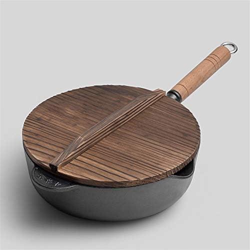 純粋な鋳鉄の鍋を深める厚い鉄鍋27cmの家庭用鉄鍋は錆びにくく、耐久性がありません 96