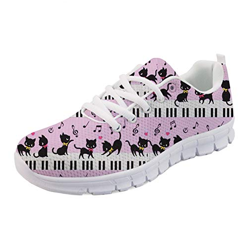 Flat Music Coloranimal 2 Sneakers With Cat Piano Women Shoes Summer Sports Walking for Spring Running qvRtv