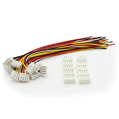 Onkuey 10 Pcs 11.1V 3S 26Awg Lipo Battery Balance Charger JST-XH Connector Cable 15CM