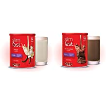 Slim Fast Protein Shake Mix Bundle - 1 Rich Chocolate Royale 12.83oz and 1 French Vanilla 12.83oz