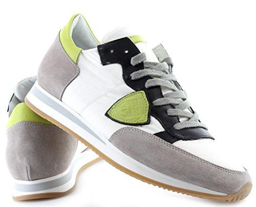 Philippe Model Zapatos Sneakers Hombre Paris Tropez Mondial Blanc Lime New Italy