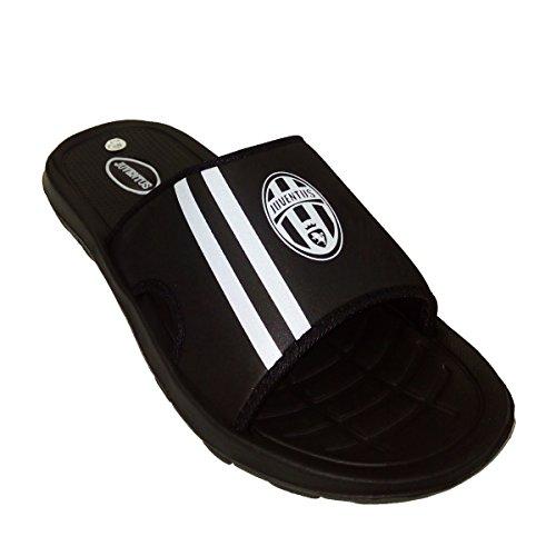Juventus - Zapatillas de estar por casa de Caucho para hombre negro negro