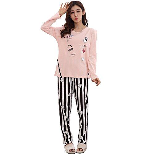 New Women Pajamas Set Cotton Clothing Long Tops Set Female Pyjamas Sets Nightsuit Mother Sleepwear Sets Young Girl
