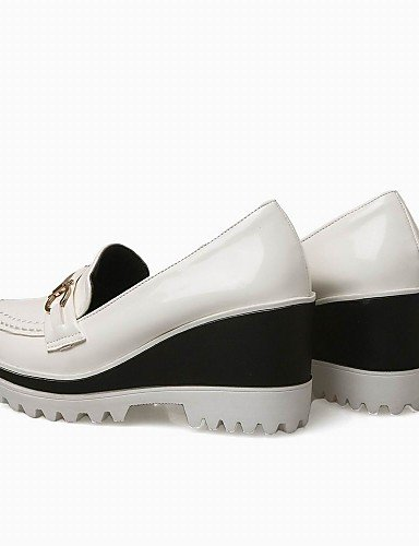 Zapatos Uk4 Cn39 mocasines Eu39 Eu37 Tacones Trabajo Punta us6 semicuero Golden us8 White 7 Plataforma Vestido exterior cuñas Gyht 5 Zq 5 negro Y De tacón Mujer Cuña Cn37 Redonda Uk6 5 Oficina Cc5ZwgqP