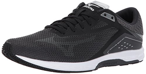 Mizuno Running Men's Wave Sonic Running Shoes, Black/Dark Shadow/Silver, 9 D US ()