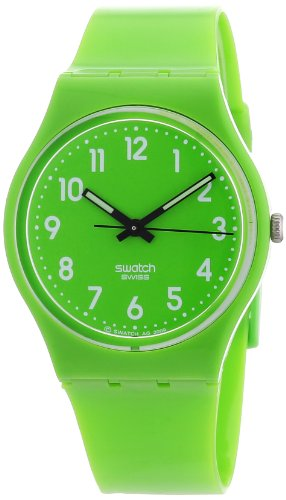 Swatch Women's GG204 Quartz Lime Green Casual Plastic Watch