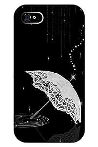 Classic Sparkle Lace Umbrella iphone 4s Hard Case