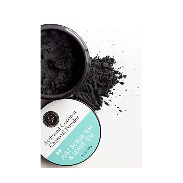 Polvo blanqueador de dientes de carbón activado (Gran 70 g, sabor a menta) 100% puro, natural y vegano | Blanqueamiento… 6