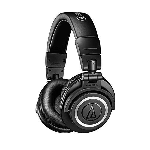 Audio-Technica ATH-M50xBT Wireless Bluetooth Over-Ear Headphones, Black Audio Technica Lightweight Headphone