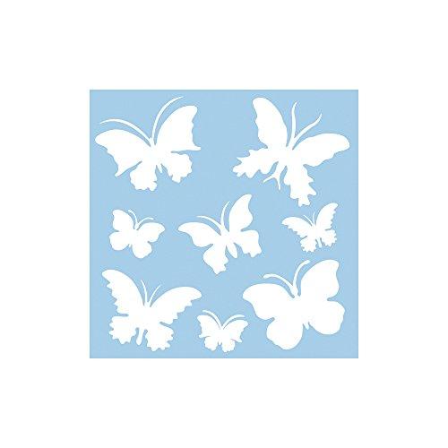 RAYHER 3847500, Schablone, 30 x 30 cm, SB-Btl. 1 Stück, Schmetterlinge