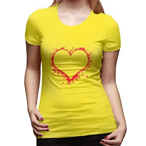 Bill Lloyd Heart Women's Short Sleeve T Shirt Color Yellow Size 32