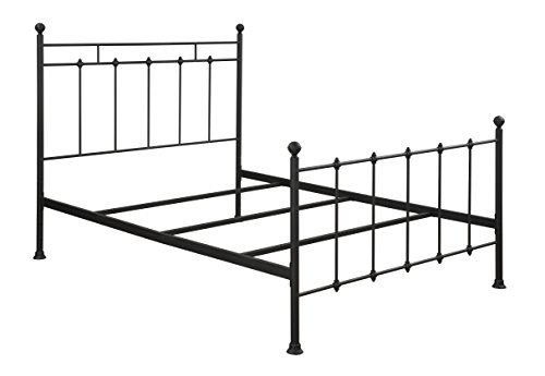 (Pulaski Shaker Style All-in-One Metal Bed, Queen, Black)