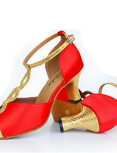 ShangYi Chaussures Rouge) de danse(Noir / Rouge) Chaussures -Personnalisables-Talon Aiguille-Cuir-Latine / Moderne ROT 43646c
