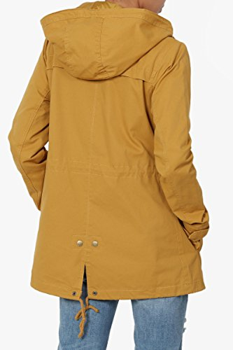 TheMogan Junior's Washed Twill Hooded Utility Anorak Jacket Mustard M by TheMogan (Image #2)