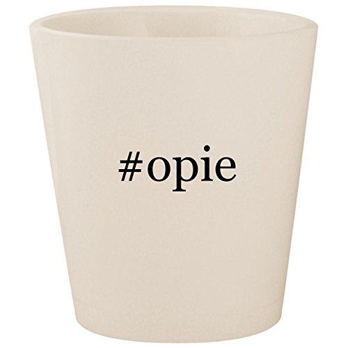 #opie - White Hashtag Ceramic 1.5oz Shot Glass