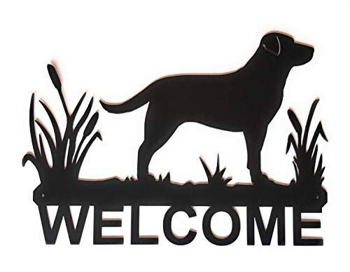 - Eagle Eye Products LLC Lab in Cattails Welcome Sign | Dog Welcome Sign | Labrador Retriever | Wall Art | Metal Welcome Sign | Decorative Indoor Outdoor Metal Sign | Black Finish 15.75