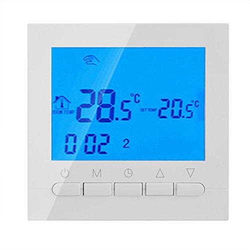 Controlador de Temperatura Inteligente Programable de Regulador de Temperatura de Sitio de Exhibición deLCD de Termóstato...