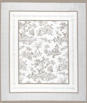 Springs Creative Nursery Rhyme Toile Beige Panel Fabric