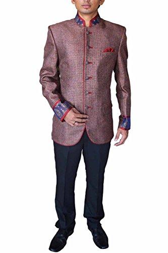 INMONARCH Mens Wedding look Nehru Jacket NJ4423 brown by INMONARCH