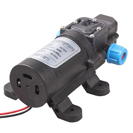 Vktech Pompe à eau automatique haute pression à membrane 12 V 60 W 5 l/mn Tenflyer 60775-UK1