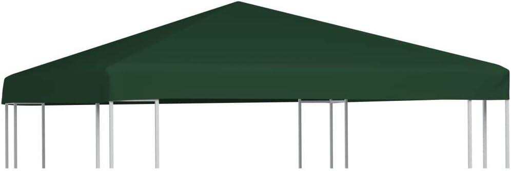 vidaXL Toldo de Cenador 2 Niveles 310 g/m² 3x3 m Verde Pabellón ...