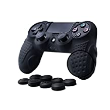 CHINFAI PS4 Controller DualShock 4 Skin Grip Anti-slip Silicone Cover Protector Case for Sony PS4/PS4 Slim/PS4 Pro Controller with 8 Thumb Grips