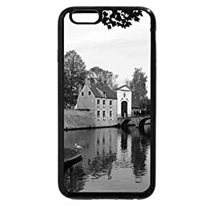 iPhone 6S Case, iPhone 6 Case (Black & White) - Water and Bridge