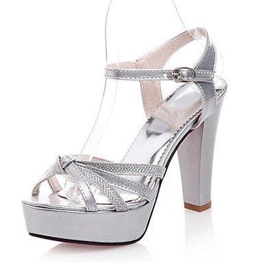e02f8edf9aab Women s Shoes Patent Leather   Glitter Chunky Heel Heels   Platform   Open  Toe Sandals Office
