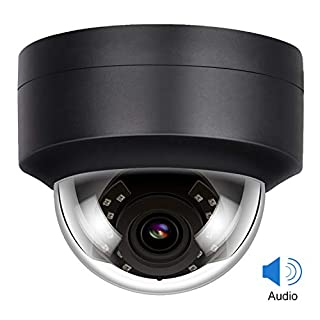 Anpviz 5MP PoE IP Dome Camera with Microphone, Audio,Indoor Outdoor Security Camera Night Vision, Weatherproof IP66 Indoor Outdoor ONVIF Compaliant Wide Angle 2.8mm Lens,Motion Detection(IPC-D250B-S)