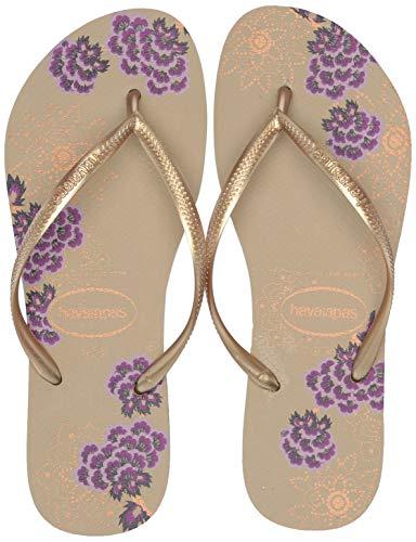 - Havaianas Women's Slim Organic Flip Flop Sandal, Sand Grey, 41/42 BR (11-12 M US)