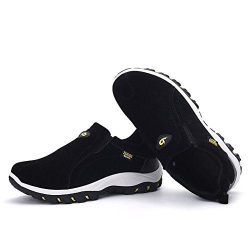 Athletic Leader Fashion On Outdoor Shoes Slip Men's Autumn Show Suede Sneaker Black qq1wA0