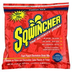 Sqwincher Electrolyte Power Mix, Fruit Punch, 2.5 Gallon, 32 Packs, #16042-FP